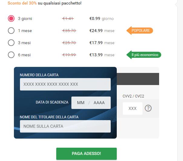 prezzi e abbonamenti